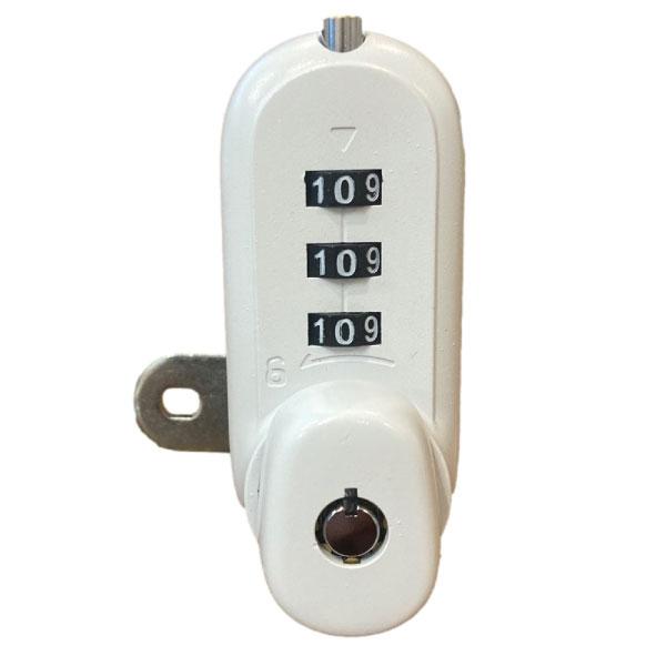 KSQ Combination Cam Lock 7449 CCL White Matt